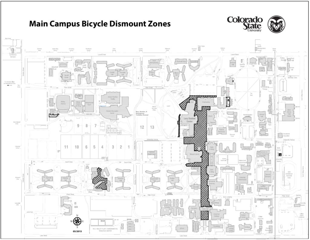 Campus dismount zones