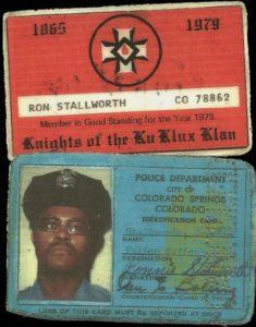 Ron Stallworth IDs